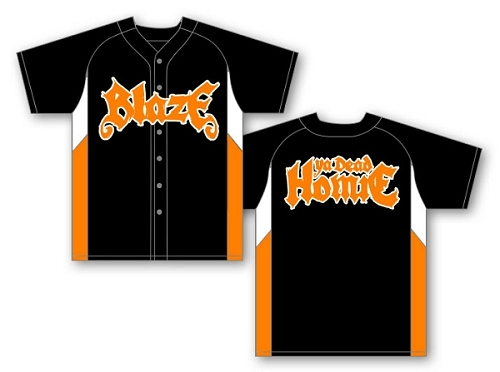 Blaze Black and Orange Baseball Jersey