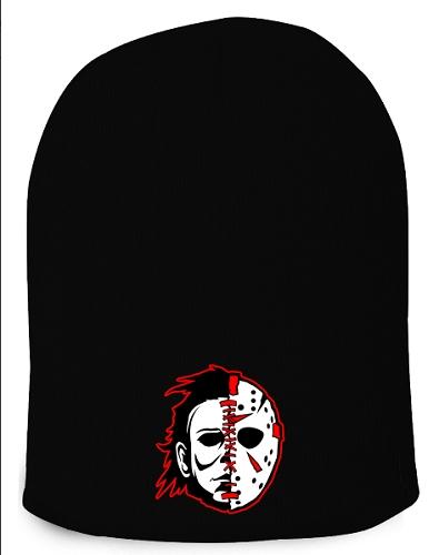 Twizitd Serial Killas Split Face 12 Inch Black Beanie