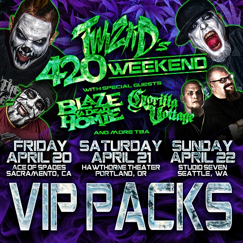 4/22 - SEATTLE - Studio Seven 420 Weekend 2018 VIP Package
