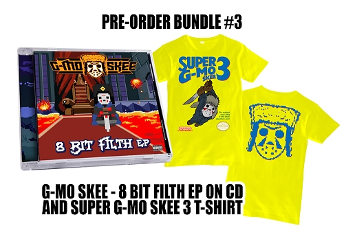 G-Mo Skee 8 Bit Filth EP Super G-Mo 3 Shirt and EP Bundle #3 Pre-Order