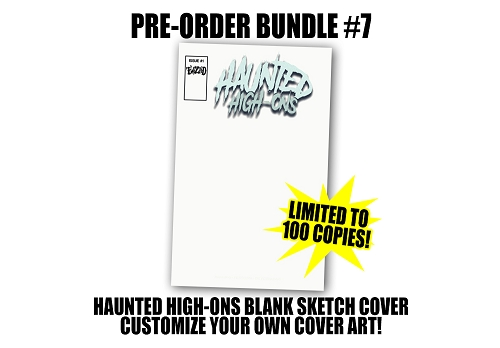 Twiztid's Haunted High-Ons Twiztidshop Variant Cover Comic Book Pre Order Blank Sketch Cover Variant Bundle #7