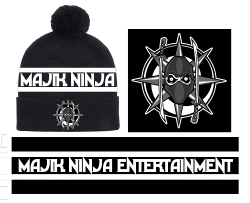 Majik Ninja Entertainment Puff Ball Sport Knit Hat