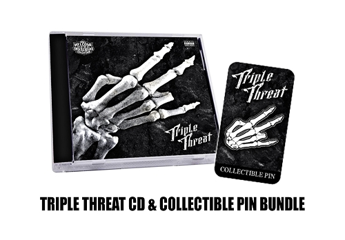 Triple Threat CD and Hat Pin Bundle