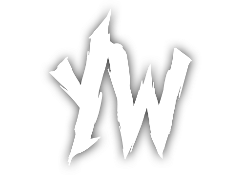 WHITE YW VINYL STICKER