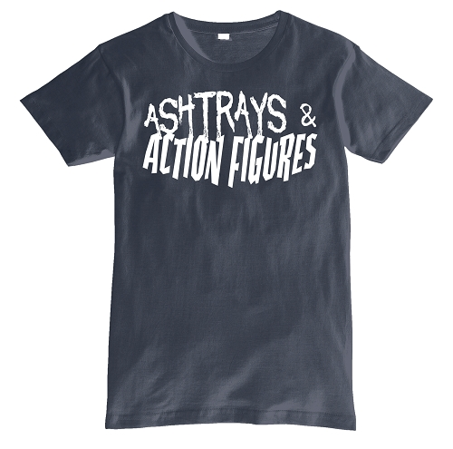 Navy Blue Ashtrays & Action Figures Shirt