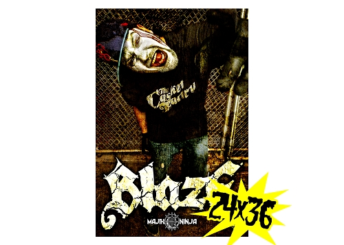 Blaze Bloody Face Poster