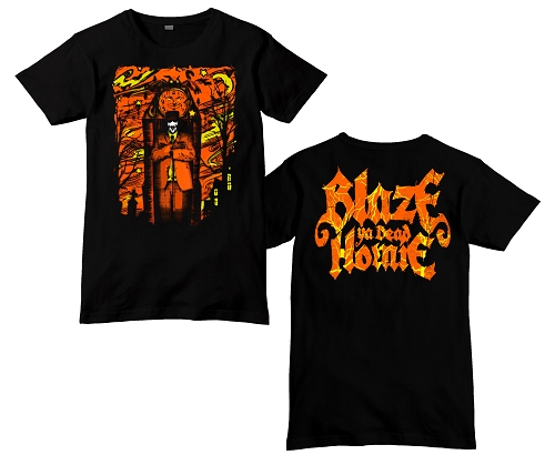 Blaze Eternal Night Orange and Black Shirt