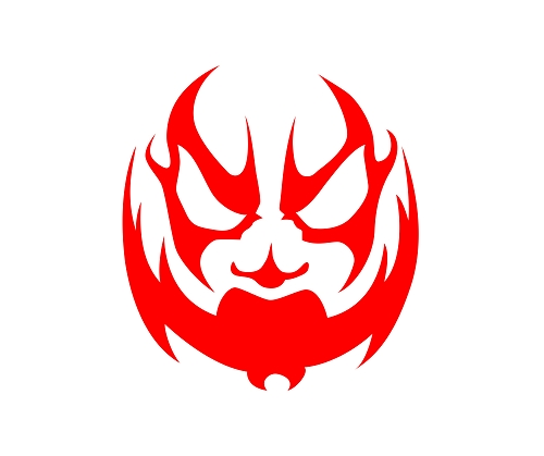 Boondox Red Face Logo 6 inch Vinyl Sticker