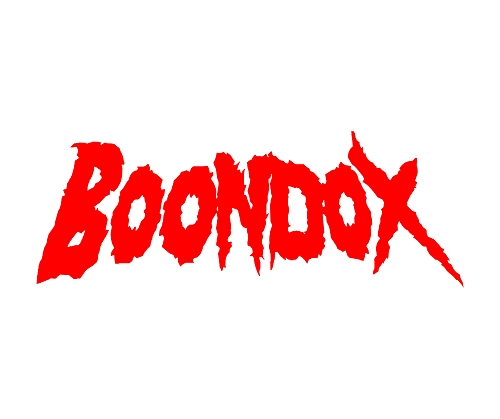 Boondox Red Logo 6 inch Vinyl Sticker