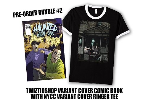 Twiztid's Haunted High-Ons Twiztidshop Variant Cover Comic Book Pre Order Ringer Tee Bundle #2