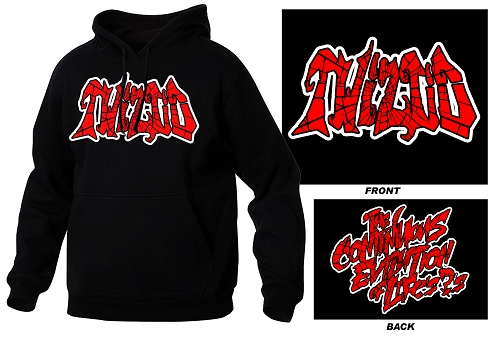 Twiztid Cracked Logo Red and Black Logo Hoodie