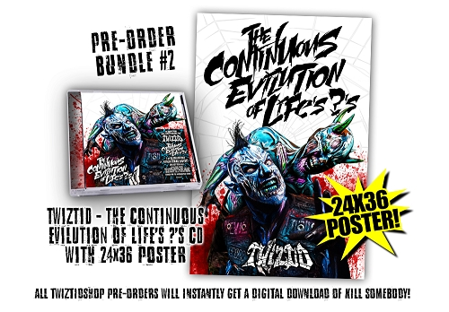 Twiztid The Continuous Evilution Of Life's ?'s Pre Order Poster Bundle #2