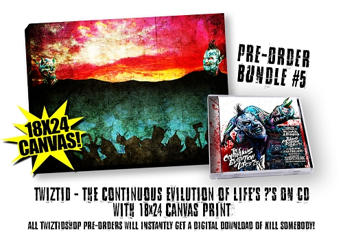Twiztid The Continuous Evilution Of Life's ?'s Pre Order Canvas Bundle #5