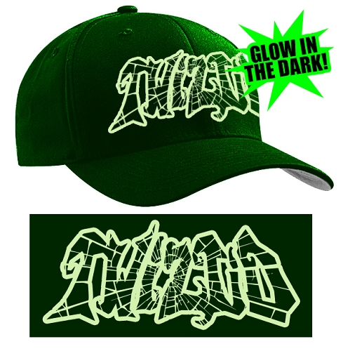 Twiztid Dark Green Glow In The Dark Cracked Logo Flex Fit