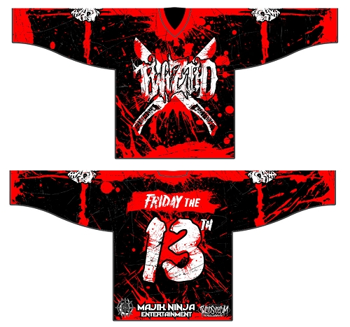 Twiztid Friday the 13th Fully Sublimated Hockey Jersey Pre Order