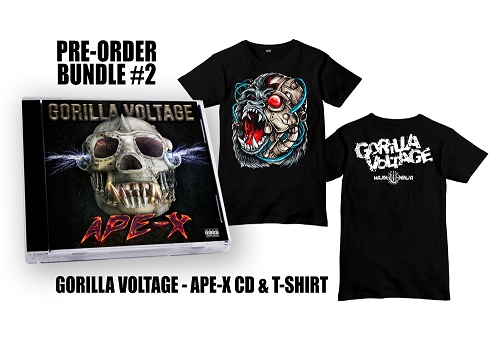 Gorilla Voltage APE-X CD Shirt Bundle