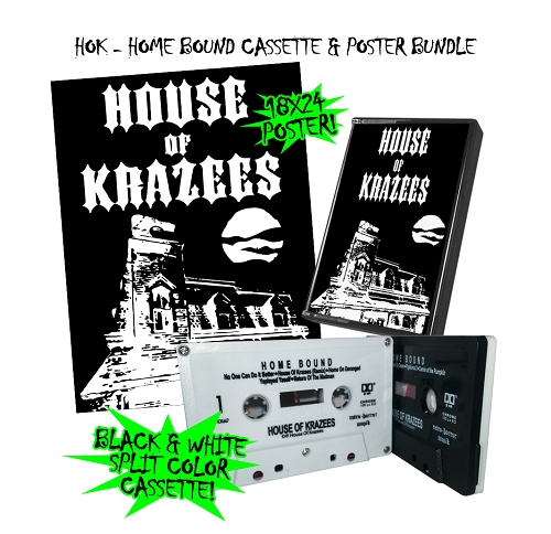 House Of Krazees Homebound Split Color Cassette and Poster Bundle