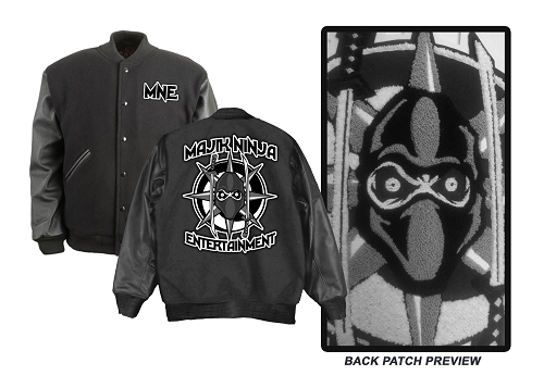 Majik Ninja Entertainment Varsity Jacket with Felt and Chenille Patches