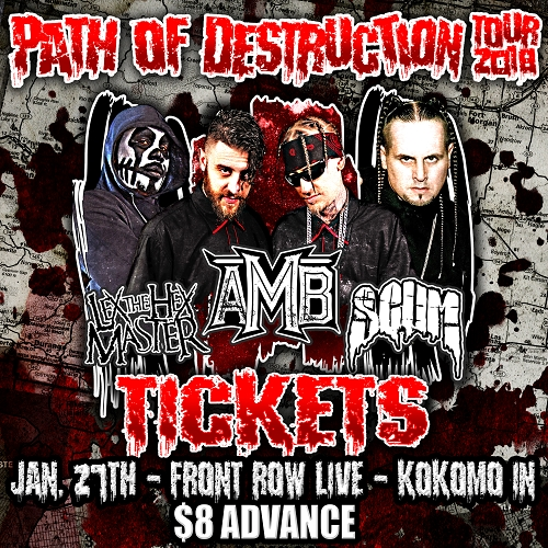 Path Of Destruction Tour 2018 TICKETS KOKOMO, IN 1/27/18