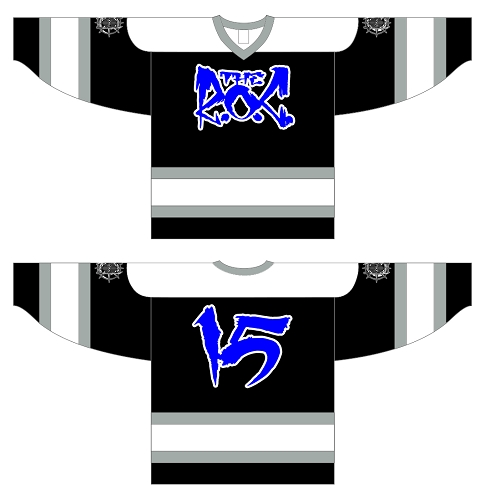 The R.O.C. Black and Blue Hockey Jersey