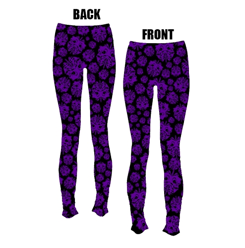 Twiztid Purple and Black Skull Lungs Pattern LEGGINGS