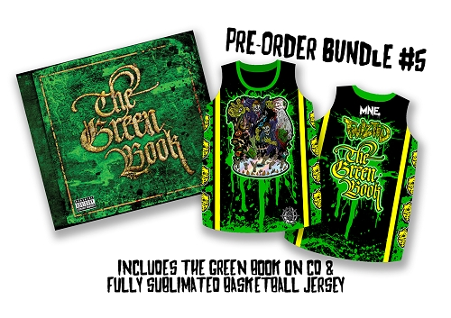 Twiztid The Green Book CD and Fully Sublimated Basketball Jersey Pre Order Bundle 5