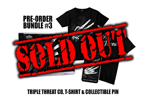 Triple Threat Pre Order Shirt and Hat Pin Bundle #3