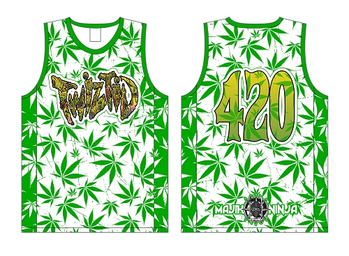 Twiztid Green Book Hydro Sublimated Basketball Jersey Pre Order