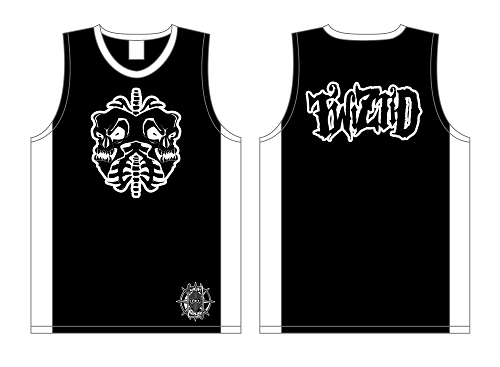 Twiztid Skull Lungs Black and White Basketball Jersey