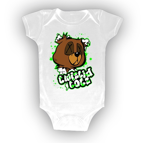 Twiztid Totz Teddy Bear Head and Logo Onesie