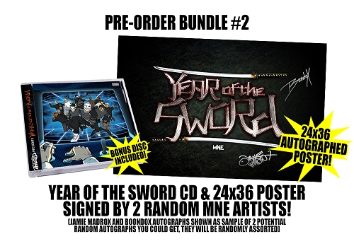 Twiztid Presents: Year Of The Sword Double Disc Pre Order CD Autographed Poster Bundle #2