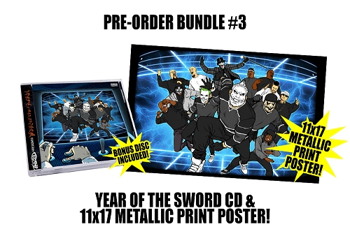 Twiztid Presents: Year Of The Sword Double Disc Pre Order CD Metallic 11x17 Poster Bundle #3