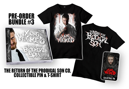 Young Wicked The Return Of The Prodigal Son Pre Order Pin and Shirt Bundle #3