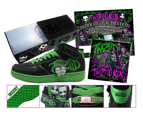 Damaged Box Twiztid High Top Shoe No CD