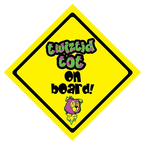 Twiztid Totz On Board Suction Cup Car Sign