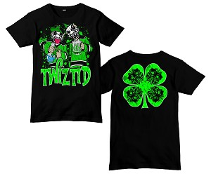 Twizitd Green Beer and Bud Shirt