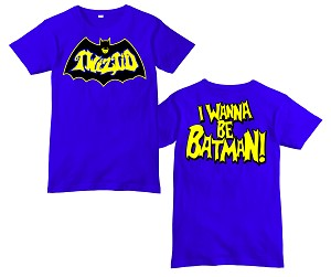 I WANNA BE BATMAN BLUE SHIRT