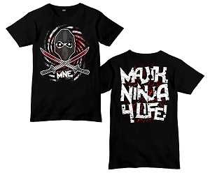 Majik Ninja Crossed Swords Logo Shirt